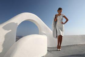 set 70 Grijs kleed met zilveren broderie op bovenkant Linea Raffaelli