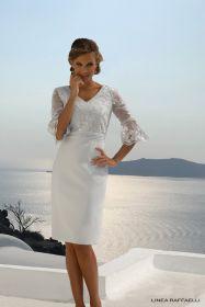 set 82 grijs kleed met transparante kanten mouw Linea Raffaelli