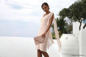 set 116 roze V-hals kleed Linea Raffaelli