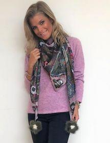 Multicolor sjaal Mucho Gusto