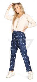 Blauwe broek met beige bollen Seventy