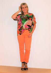 Multicolor bloes met print Paule Ka