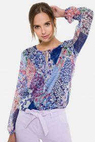 Blauwe bloes met verschillende prints Terre Bleue