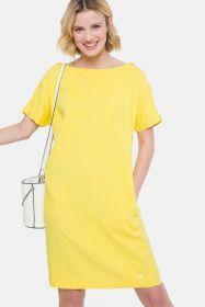 Geel kleed met knopen op de mouw Terre Bleue