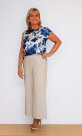 Blauw gevlekte bloes 1970