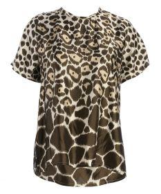 Bruine bloes met dierenprint Seventy
