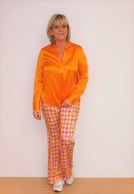 Oranje V-hals bloes Herzen's Angelegenheit