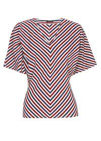 Rood blauw wit gestreepte T-shirt Caroline biss