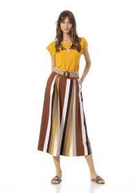 multicolor gestreepte lange rok Caroline Biss