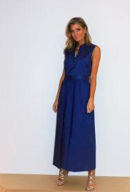 Blauw lang kleed Alpha