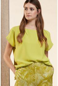 Groene bloes met korte mouw HER