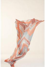 Oranje lichtblauwe sjaal HER