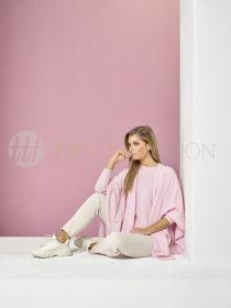 Beige broek met uitgerafelde onderkant model Jane Hem Raffaello Rossi