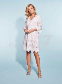 Wit kleed met laserfantasie Blubianco