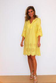 Geel kleed met laserfantasie Blubianco