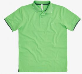 Groene polo met blauwe boord aan mouw sun 68
