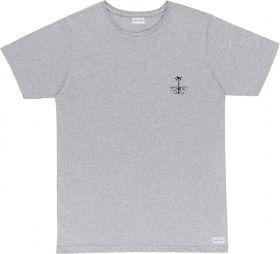Grijze T-shirt met palmboom Bask in the Sun