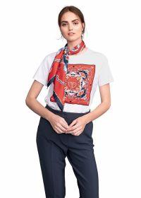 Witte T-shirt met rode tekening Riani
