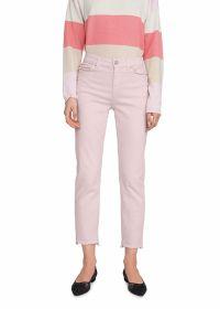 Roze broek met franjes op verschillende lengtes onderaan Riani