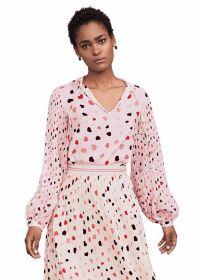 Roze bloes met hartjesprint Riani