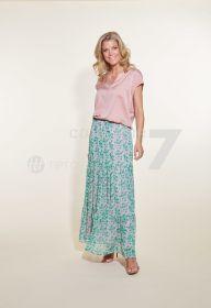 Roze groene rok met print Senso