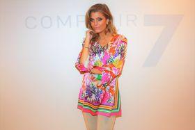 Multicolor bloes met zeesterren en zeewier print Mucho Gusto