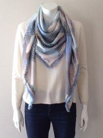 Multicolor gevelekte sjaal Mucho Gusto