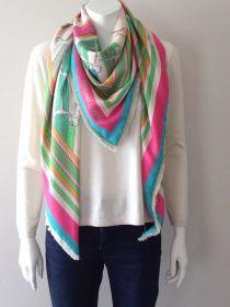 Groene sjaal met horsebitprint Mucho Gusto