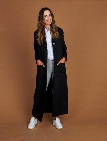 Zwarte lange mantel Twinset