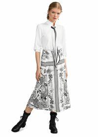 Witte rok met zwarte print Riani