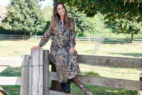 Lang kleed met dierenprint Seventy