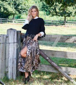 Beige rok met luipaardprint Seventy