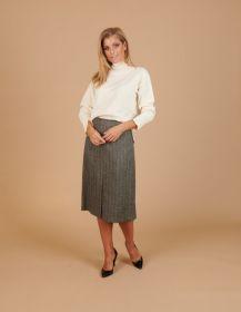 Zwarte rok met visgraatmotief Seventy