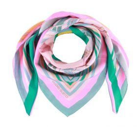Roze groene sjaal Mucho Gusto