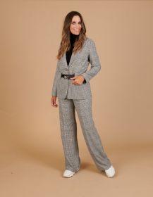 Zwart - wit geruite broek Caroline Biss
