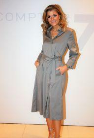 Kaki lang hemdkleed met riem in taille Repeat