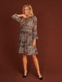 Grijs kleed met dierenprint Linea Raffaelli