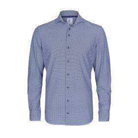 Blauw hemd met ruitenprint R2 Amsterdam
