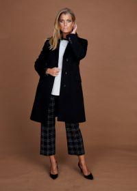 Zwarte mantel Cinzia Rocca