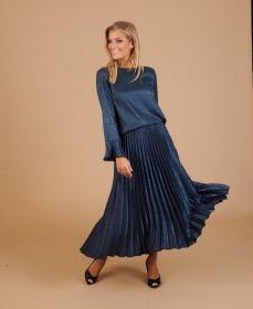 Blauwe bloes met ton-sur-ton print Due Amanti