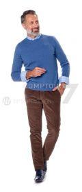 Blauwe pull ronde hals Gran Sasso