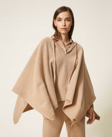 Camel poncho Twinset