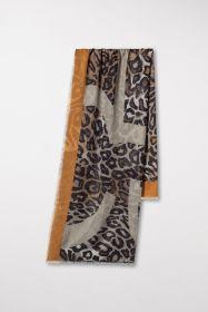 Beige sjaal met dierenprint Luisa Cerano