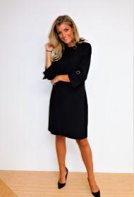 Zwart kleed met gespen aan mouw en hals Atmos