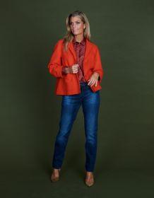 Blauwe jeans model skinny Raffaello Rossi
