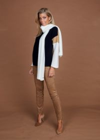 Camel daimlook broek op elastiek model Penny Raffaello Rossi