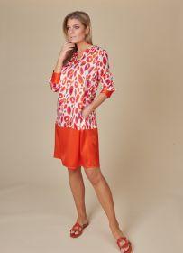 Oranje met paars gevlekt kleed Herzen'S angelegenheit