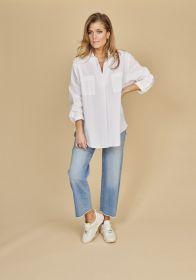 Witte bloes met borstzakken Seventy