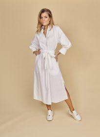 Wit kleed met riem Seventy