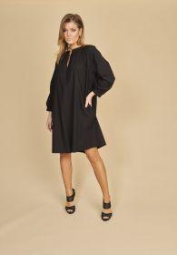 Zwart V-hals kleed Seventy